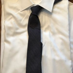 J. Crew Wool/Silk Blend Grey Skinny Necktie